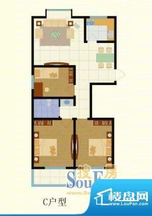 梨园佳境110.31三室面积:110.31m平米