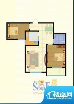 梨园佳境93.56两室两面积:93.56m平米