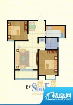 梨园佳境91.31两室两面积:91.31m平米