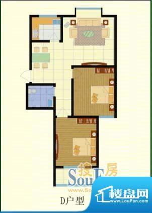 梨园佳境两室两厅一面积:91.00m平米