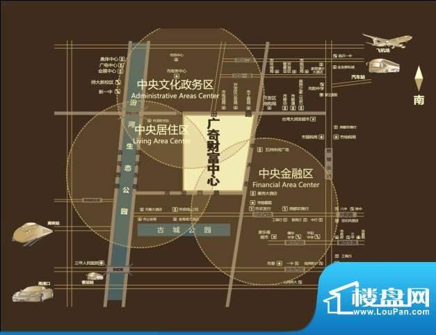广奇财富中心II期交通图