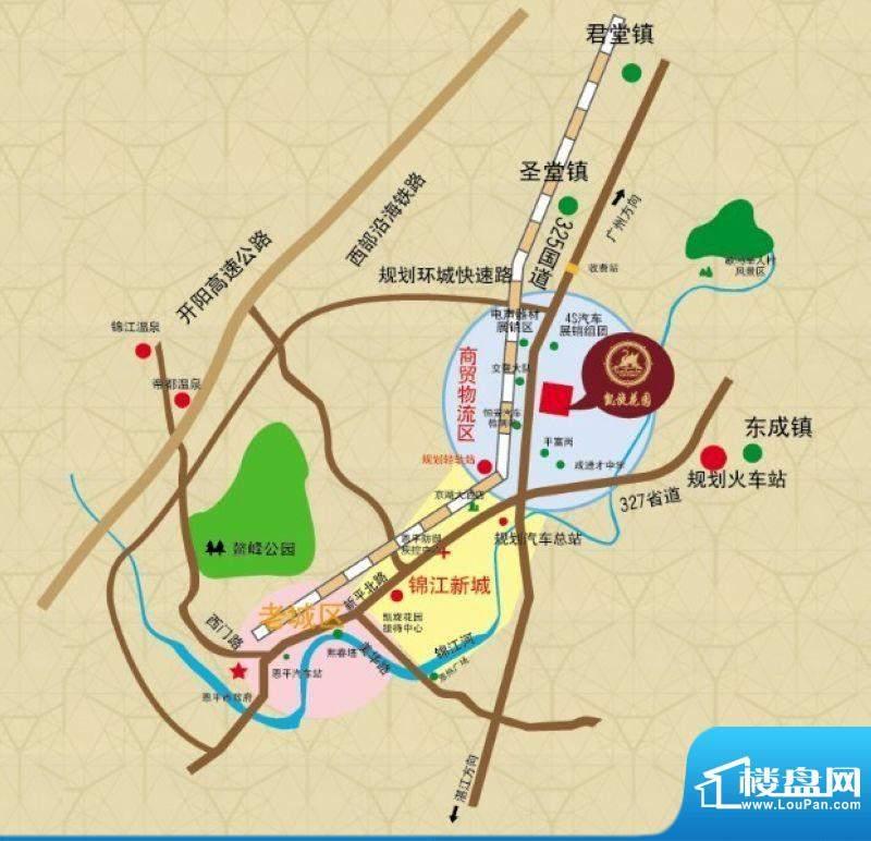 凯旋花园交通图