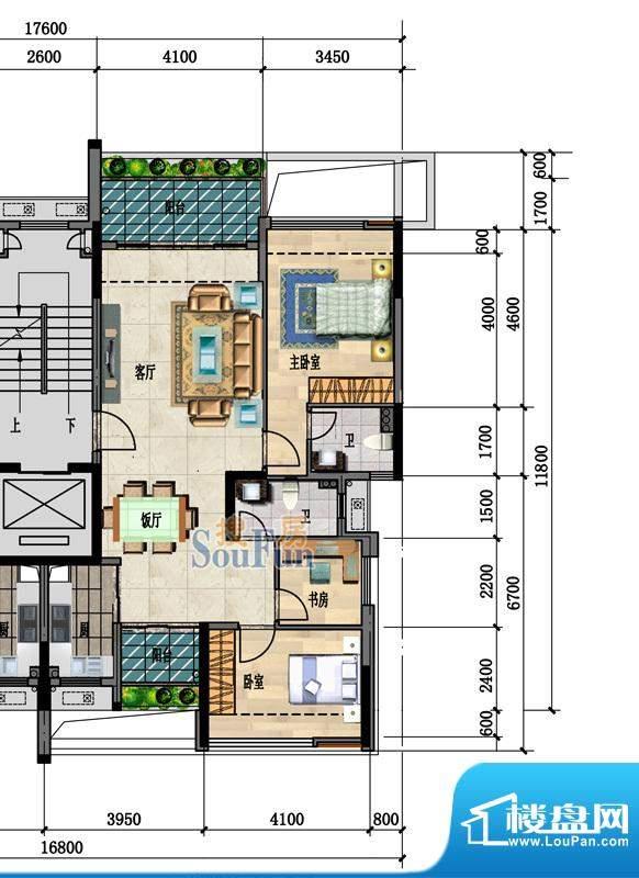 中凯豪庭3栋1、2单位面积:101.00m平米