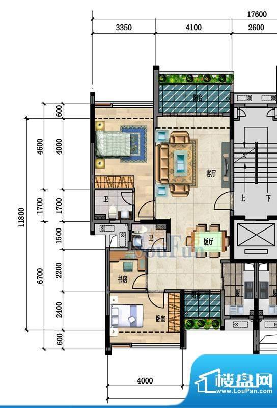 中凯豪庭3栋1、2单位面积:99.00m平米