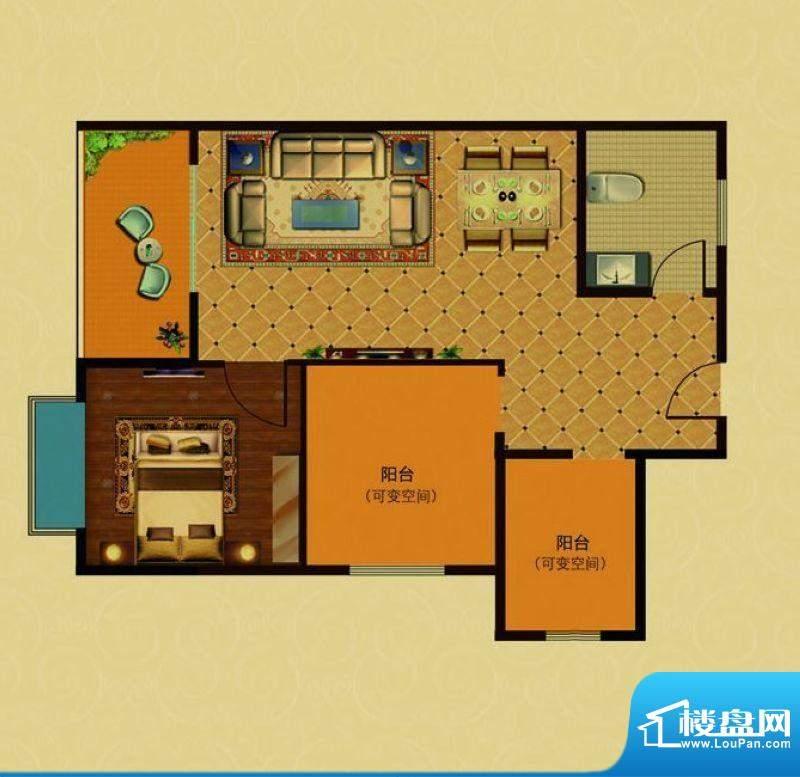 金泽蓝湾阳光里组团面积:45.60m平米