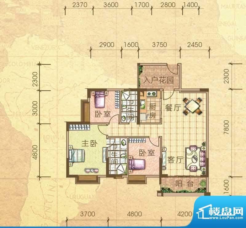 汇侨新城28栋标准层面积:115.80m平米
