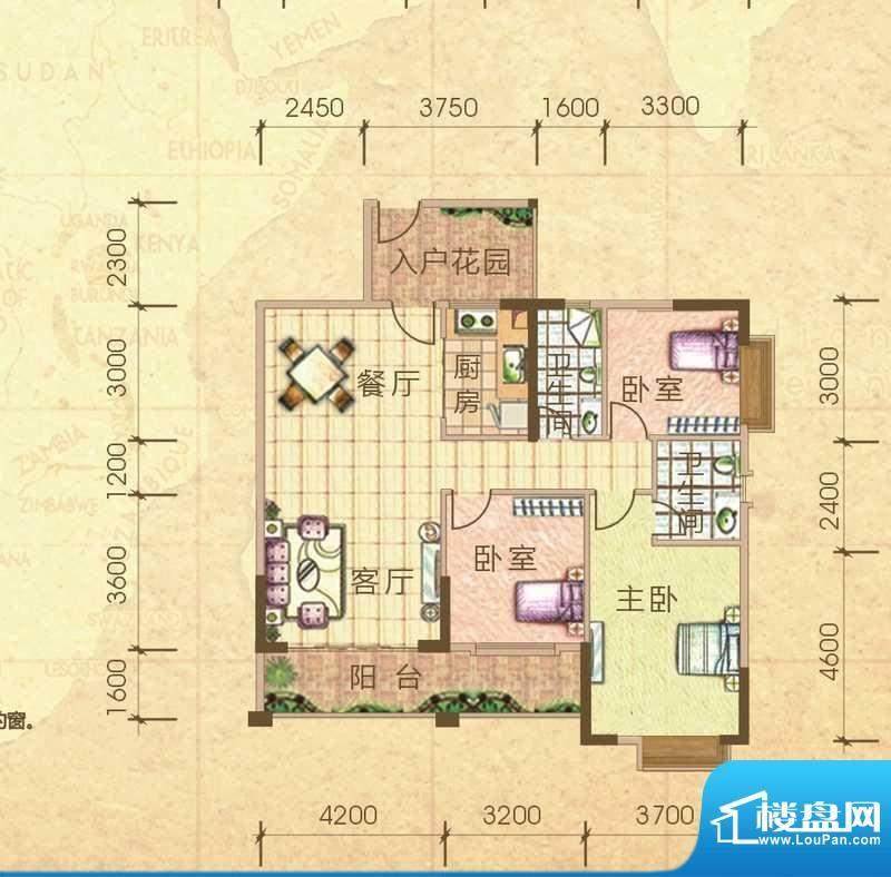 汇侨新城28栋标准层面积:119.40m平米