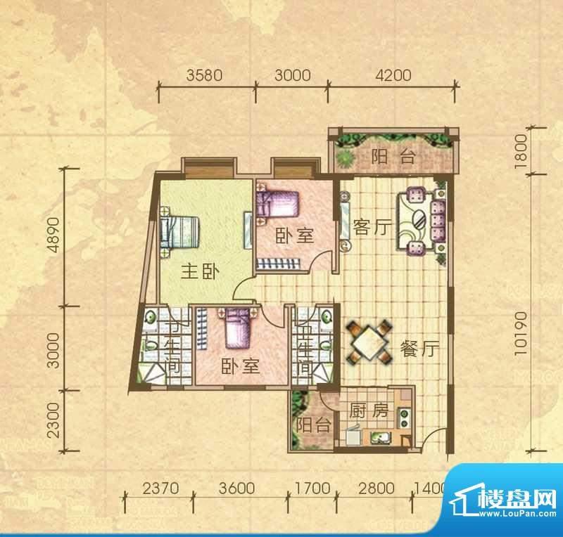 汇侨新城28栋标准层面积:118.20m平米