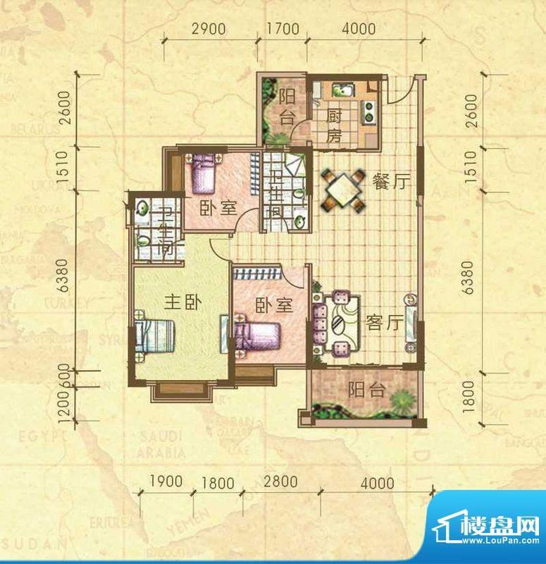 汇侨新城13栋标准层面积:112.79m平米