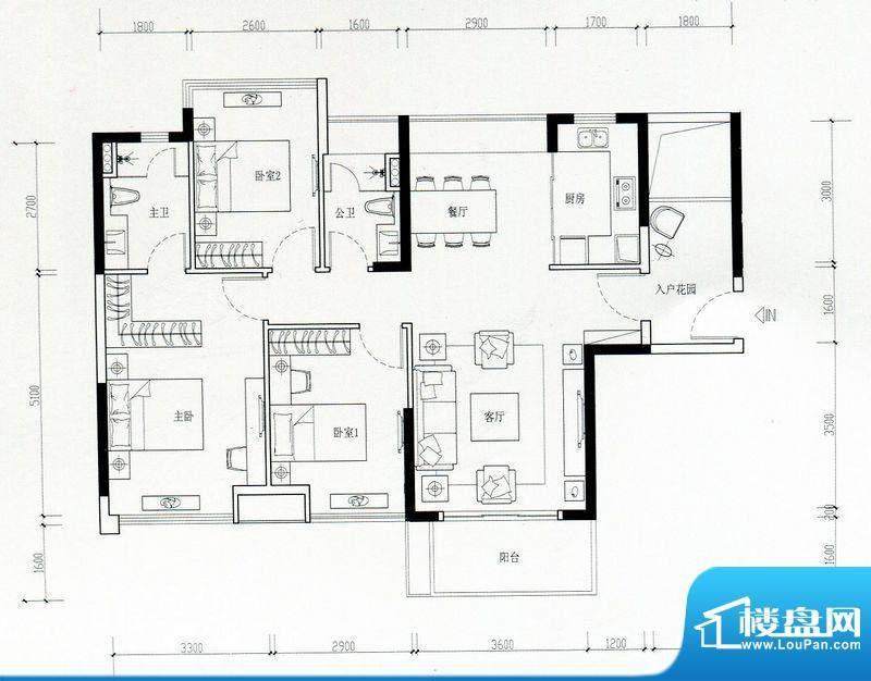 海伦湾江景洋房2栋0面积:106.00m平米