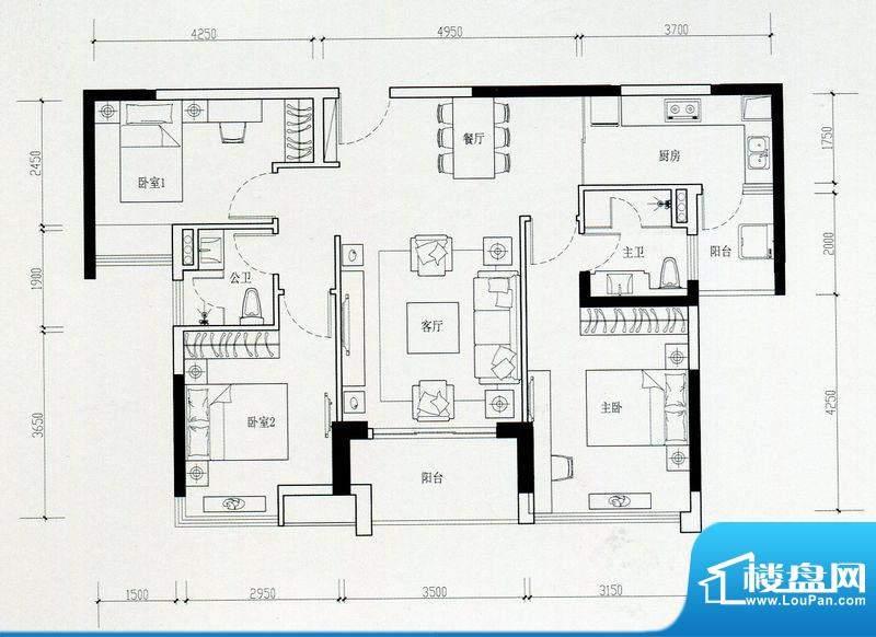 海伦湾江景洋房2栋0面积:103.00m平米