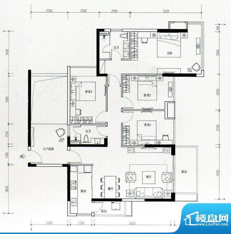 海伦湾江景洋房1栋0面积:139.00m平米