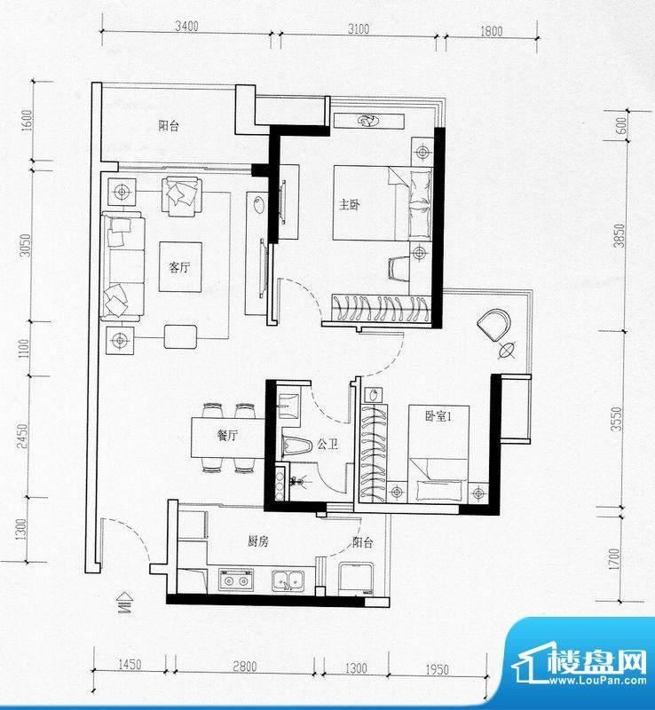 海伦湾江景洋房1栋0面积:79.00m平米