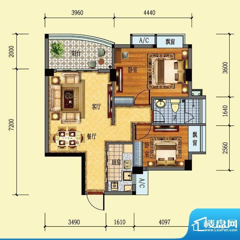 雅堤公馆1幢之一01单面积:73.00m平米