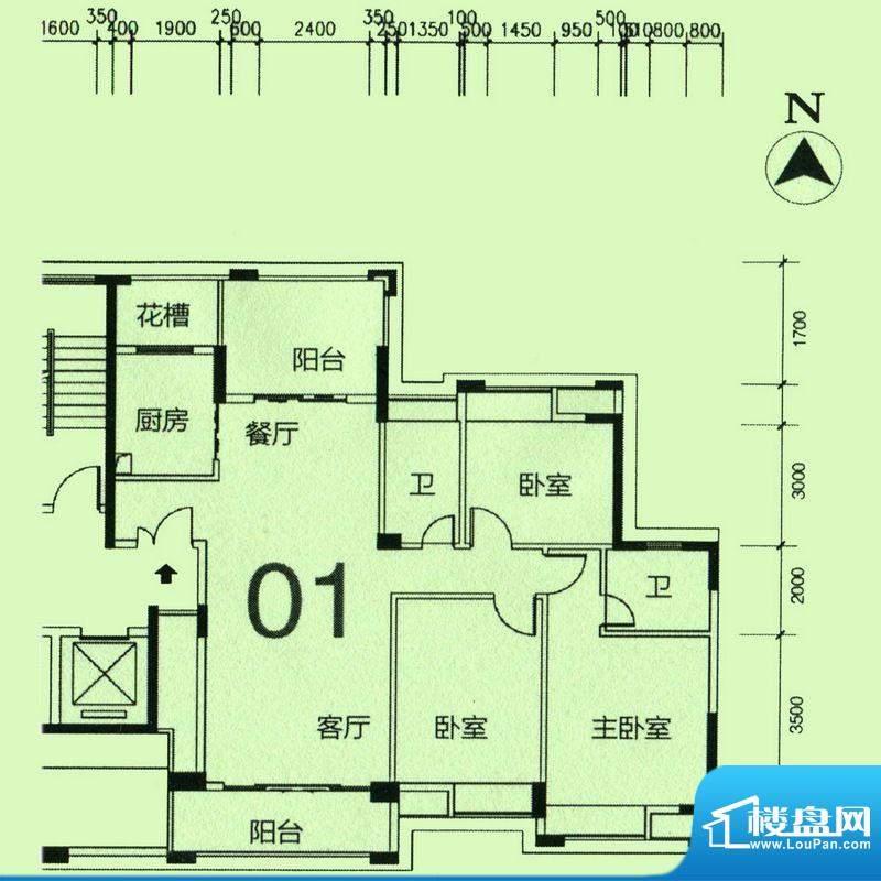 天骄半岛帝江1栋标准面积:138.19m平米