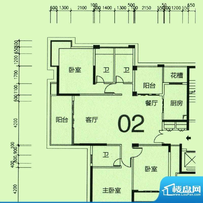 天骄半岛帝江1栋标准面积:165.77m平米