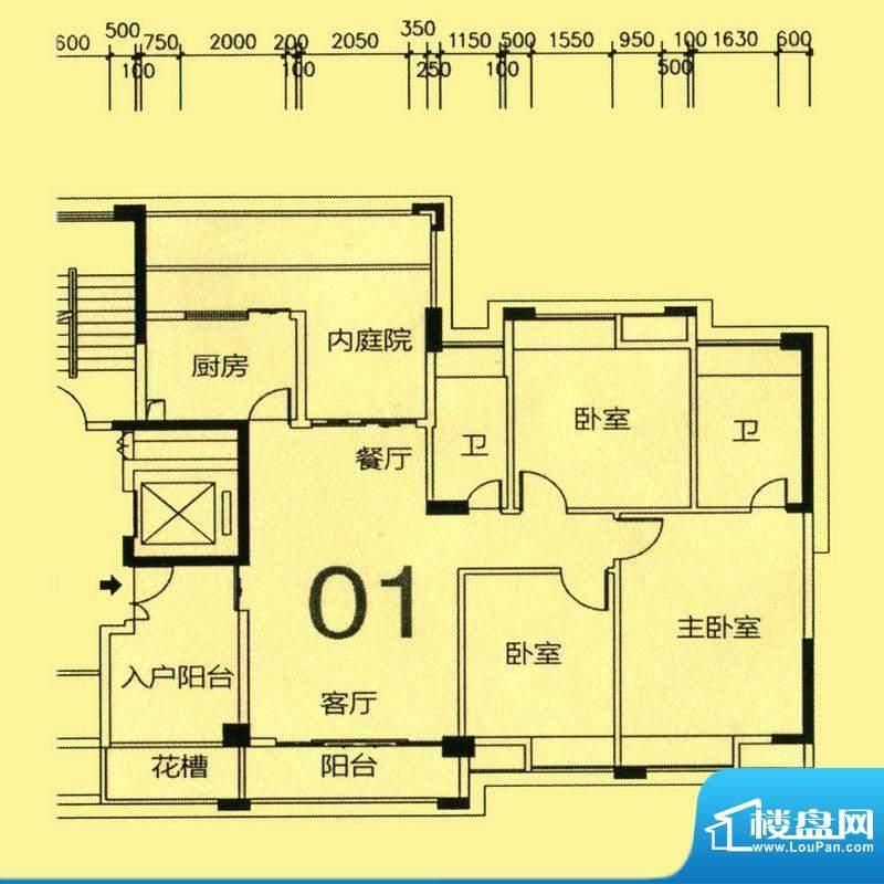 天骄半岛帝江2栋标准面积:137.36m平米