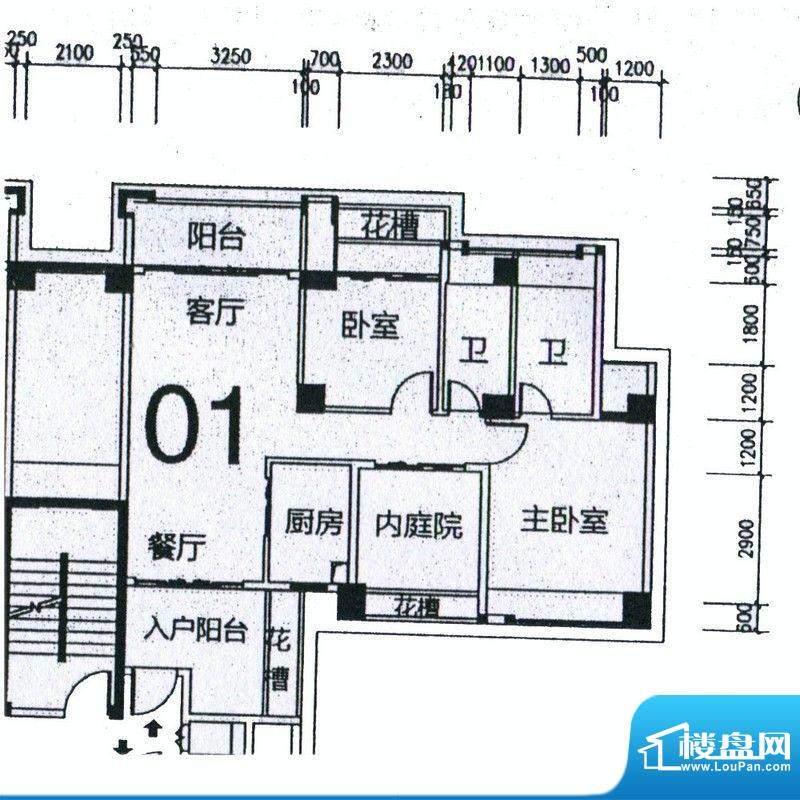 天骄半岛帝江3栋标准面积:103.15m平米