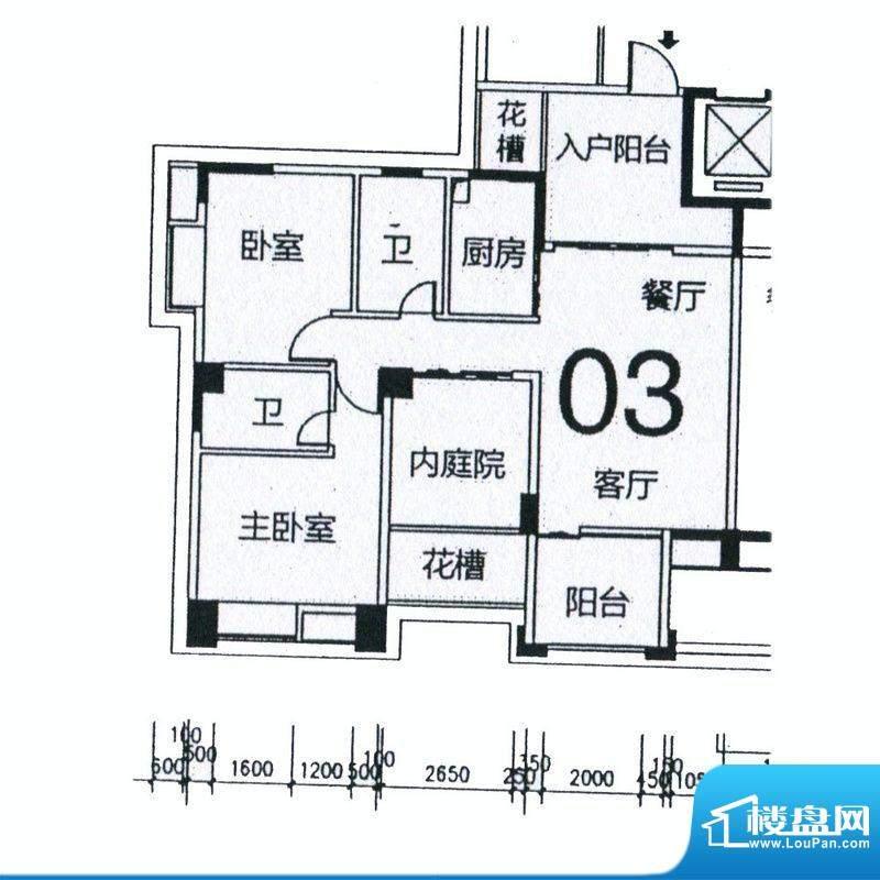 天骄半岛帝江3栋标准面积:101.43m平米