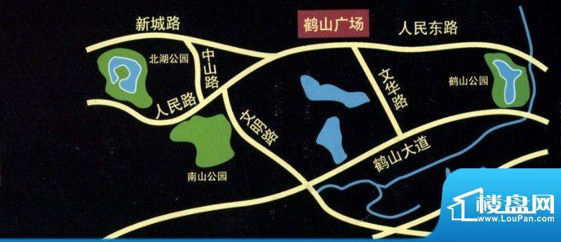 鹤山广场交通图