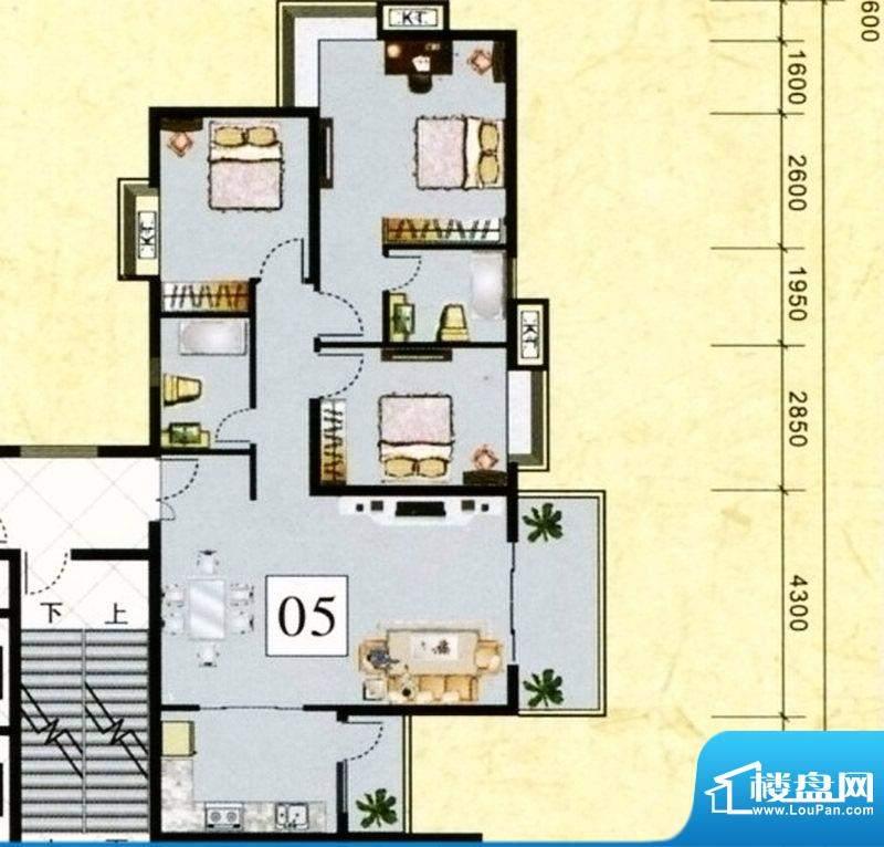 鹤山广场2栋05单元标面积:118.57m平米