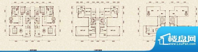 长城·唐宁郡双拼别面积:370.00m平米