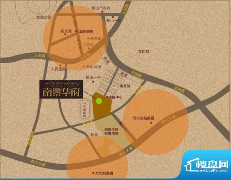 南景华府交通图
