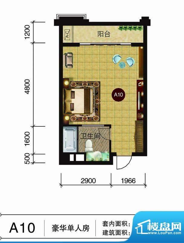 伯爵半岛产权式酒店面积:54.94m平米