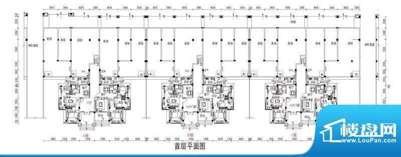 鹤山碧桂园2号楼首层面积:56.79m平米