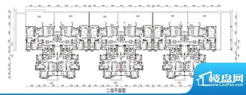 鹤山碧桂园2号楼二层面积:79.98m平米