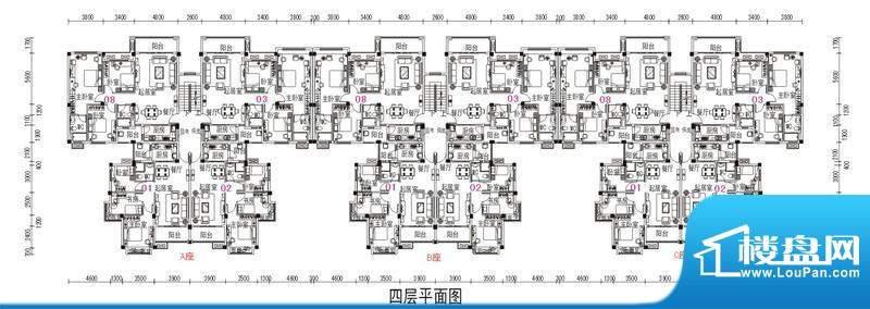 鹤山碧桂园2号楼四层面积:79.98m平米