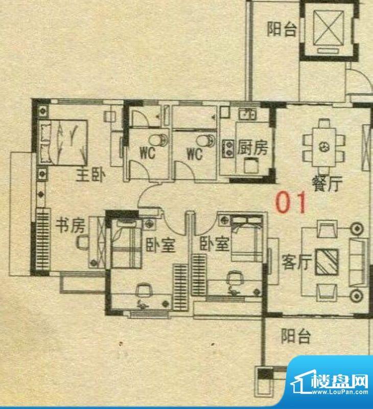 碧桂园·翡翠湾6号楼面积:116.00m平米