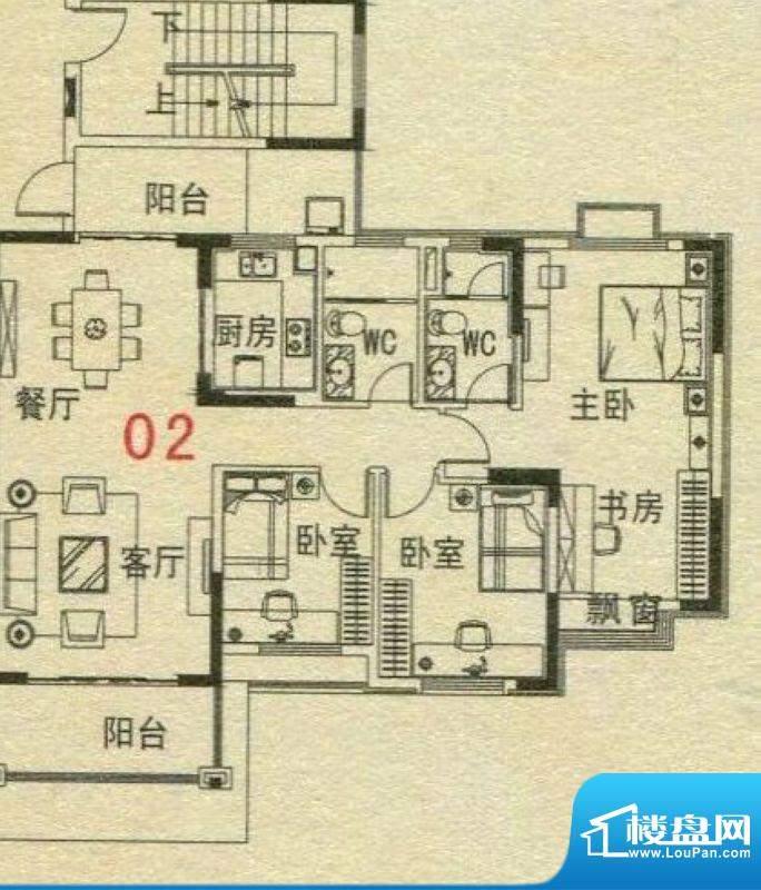碧桂园·翡翠湾6号楼面积:117.38m平米