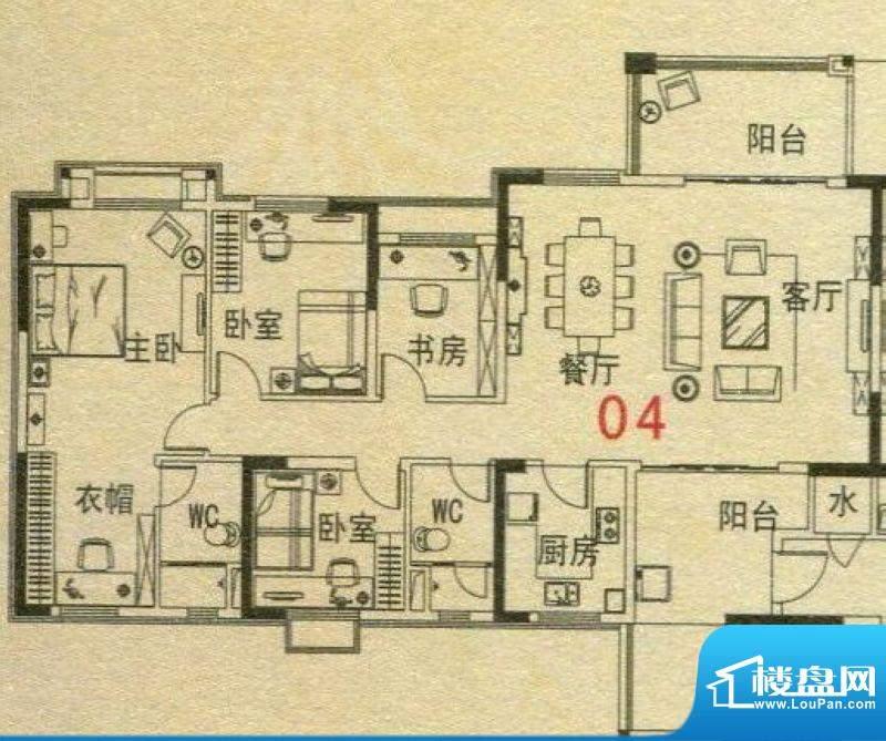 碧桂园·翡翠湾6号楼面积:140.19m平米
