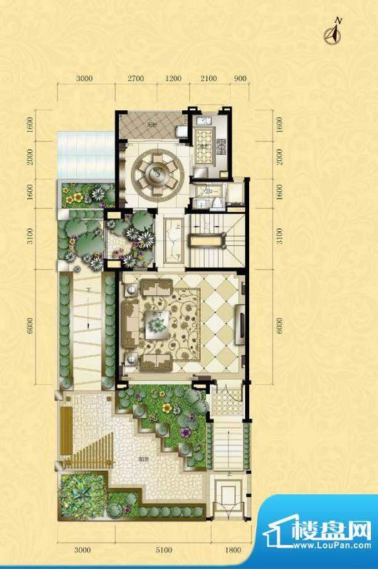 君汇熙庭熙苑A型别墅面积:320.00m平米