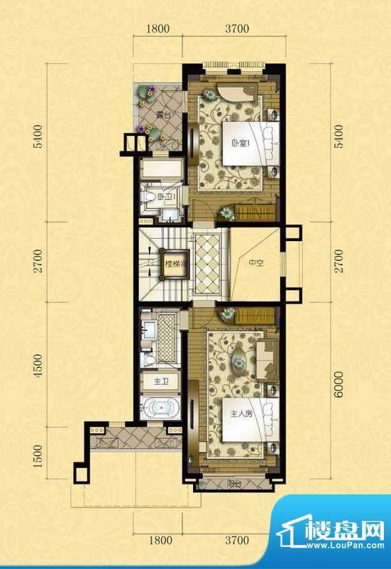 君汇熙庭熙苑B型别墅面积:187.00m平米