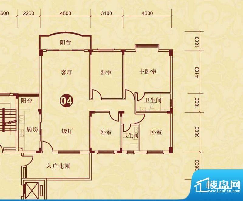 侨雅花苑4期12号楼标面积:178.82m平米