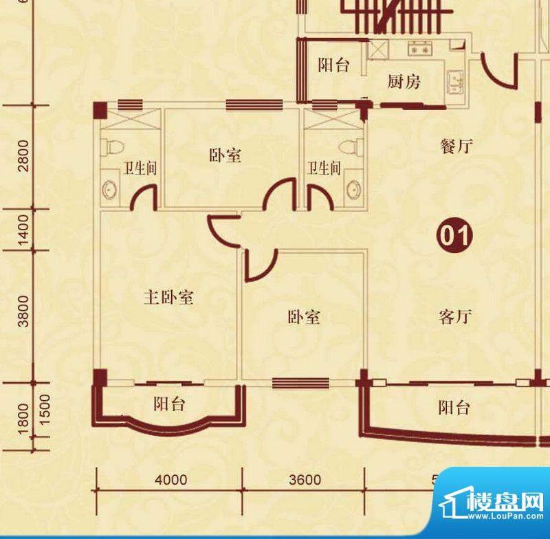 侨雅花苑4期1、2、5面积:138.37m平米