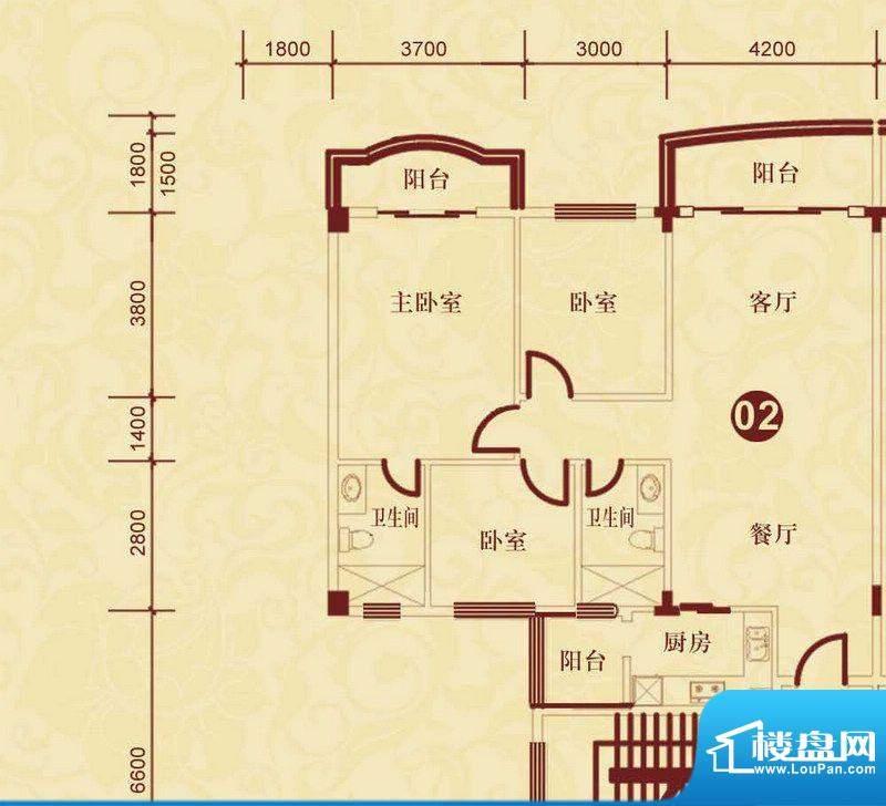 侨雅花苑4期1、2、5面积:120.83m平米
