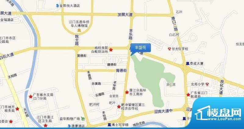 丰盛苑交通图