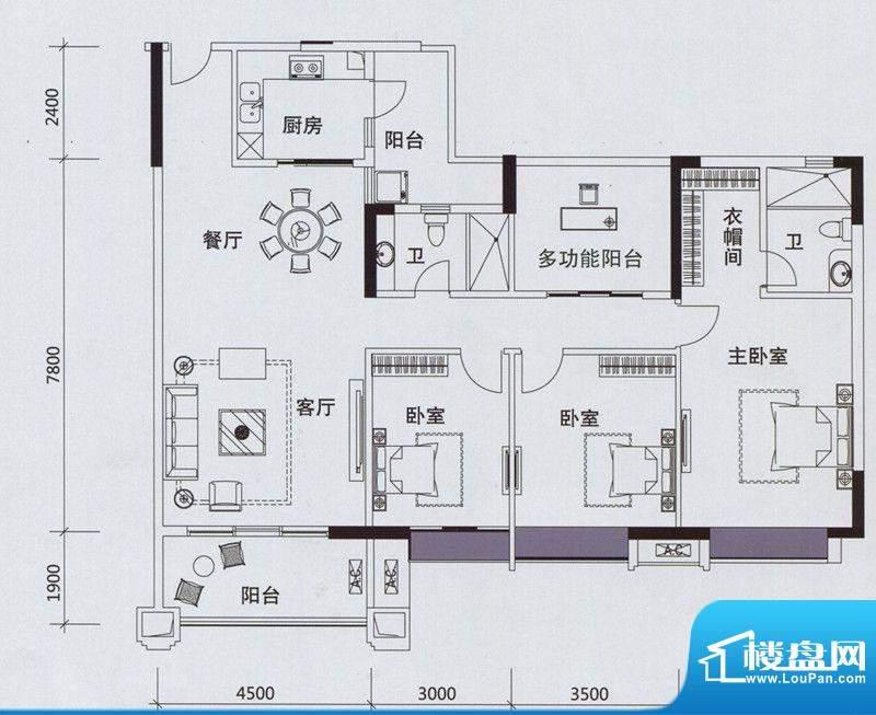 锦绣香江浅水湾3栋0面积:140.00m平米