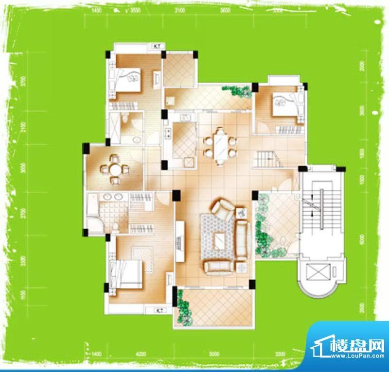 千禧·秀荷花城Cff户面积:120.00m平米