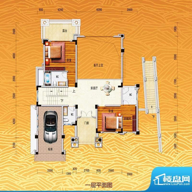 凤飞云XI别墅一层平面积:0.00m平米