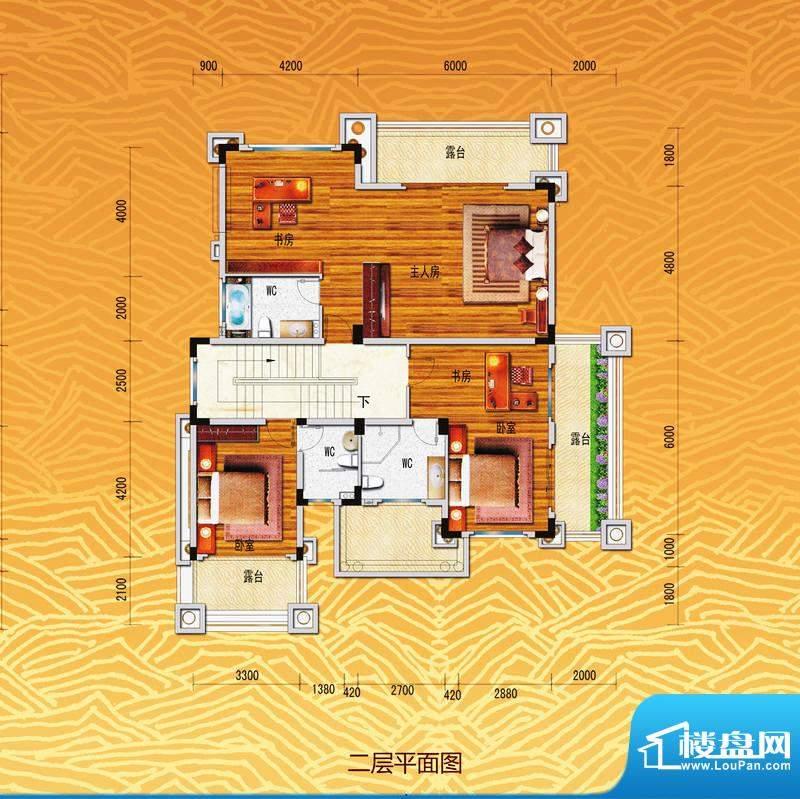 凤飞云XI别墅二层平面积:0.00m平米