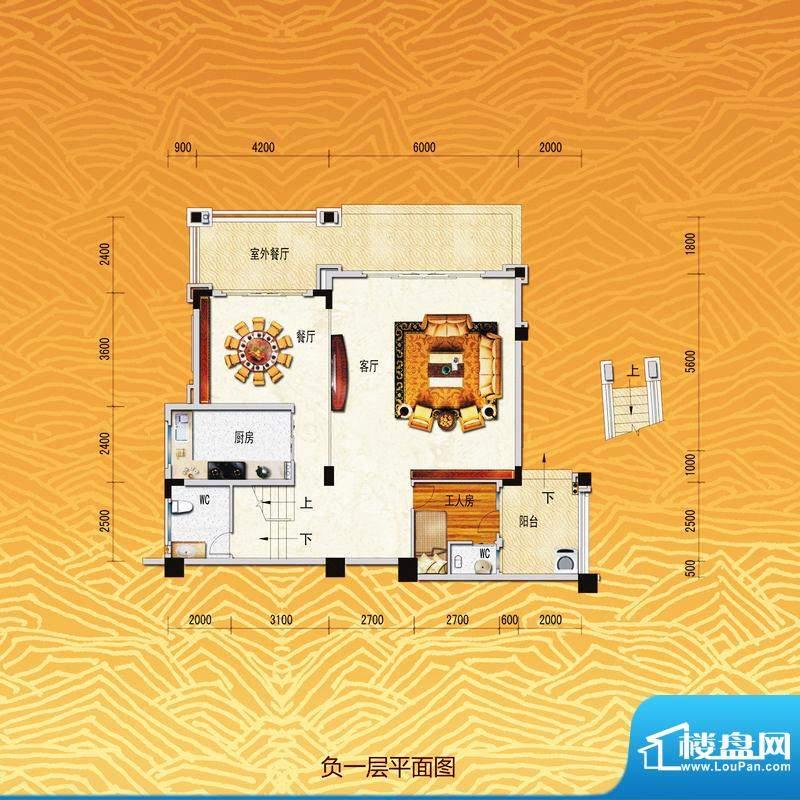 凤飞云XI别墅负一层面积:0.00m平米