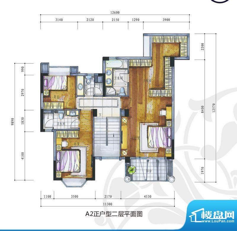 花城又一村A2正户型面积:227.90m平米