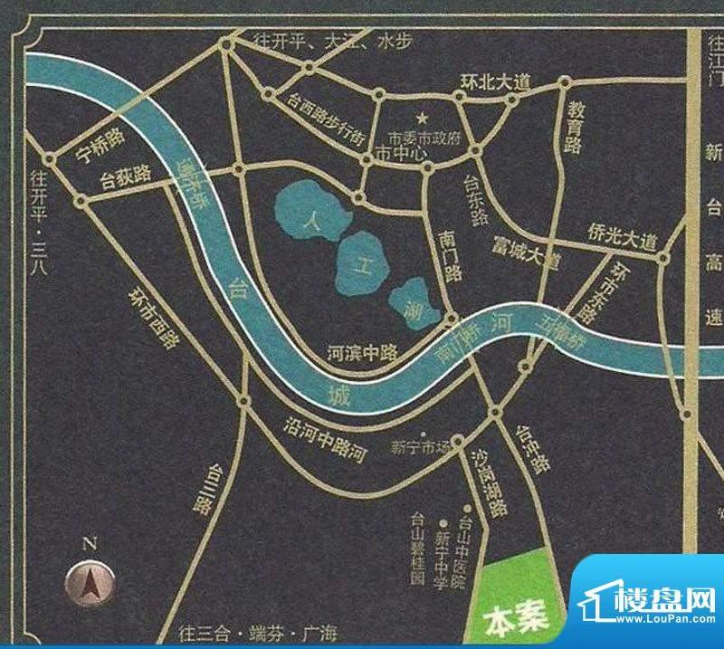 台山海骏达花园交通图