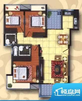 旭涛雅轩户型图 3室面积:0.00m平米