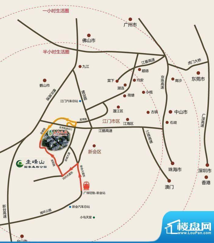 圭峰花园交通图
