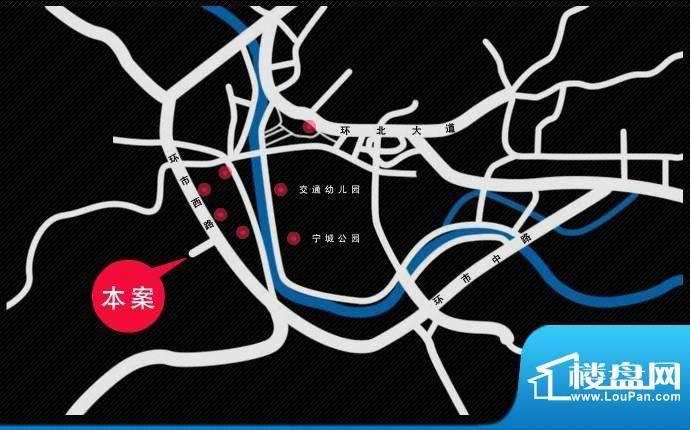 华侨花园交通图